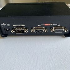 Monoprice 2 Port VGA Splitter Video Distribution Box 1 to 2 Monitor Signal Copy