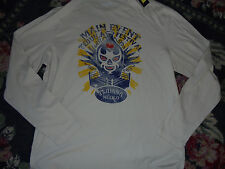 Cremieux long sleeve shirt NWT NEW distressed mens M Tequila Festival skull fun