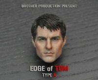1:6 Scale Edge of Tomorrow TOM Male Head Sculpt Head Carving Toys F 12'' Body