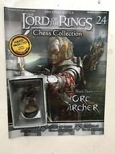 LORD OF THE RINGS CHESS COLLECTION 24 ORC ARCHER EAGLEMOSS FIGURE PAWN +MAGAZINE