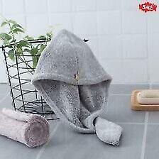 2-Pcs Fast Dry Quick Drying Hair Towel Wrap Spa Bathing Head Cap Bath Shower