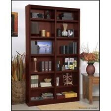 Concepts In Wood Mi4884-C Double Wide Bookcase, Cherry Finish 12 Shelves