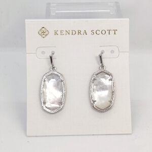 New Kendra Scott Dani Earrings in Ivory Shell / Silver