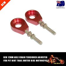 2pcs 12mm Chain Tensioner Adjusters Fit Honda Atomik Thumpstar Bike Scooter Red