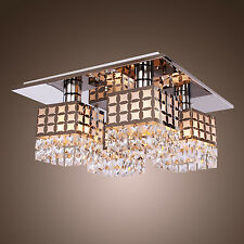 Modern Round Crystal Lamp Chandelier Ceiling Pendant Light Fixture lighting