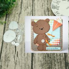 Xmas Brown Bear Metal Cutting Dies Stencil Scrapbook Embossing Album Craft DIY