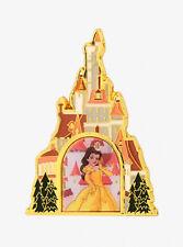 Disney Beauty & the Beast Princess Belle Castle Lenticular Enamel Pin