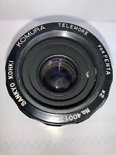 Sankyo Kohki  Komura Telemore Lens For Penta X2 with Case