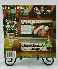 Scrapbook Trends Magazine Book December 2007 Christmas Scrapbooking Papercrafts