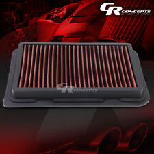 RED WASHABLE HIGH FLOW AIR FILTER PANEL FOR 09-17 TOYOTA COROLLA 07-17 YARIS