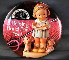 "Memories of Yesterday ""A HELPING HAND FOR YOU""  Promo Pinback Button"