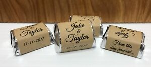 120 RUSTIC THEMED Personalized Candy Labels/Wrappers/Stickers DIY Wedding Party