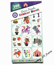 PARTY CIRCUS ANIMALS MONKEY STICKER BOOK 12 SHEETS 288PK FAVOUR LOOT BAG FILLER