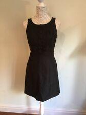 Next Size 12 Little Black Dress Button & Bow Detail Audrey Hepburn