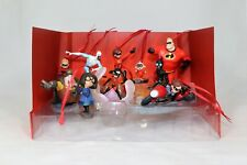 Disney Deluxe The Incredibles 2 Christmas Ornaments Figures 10pc Set New