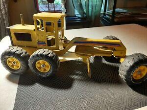 Vintage Tonka Road Grader 1970's Toy Pressed Metal Yellow