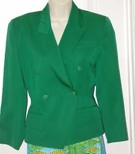 90s LOLITA LEMPICKA France Kelly Green double breasted wool FITTED blazer S 36 4
