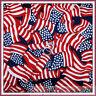 BonEful Fabric FQ Cotton Quilt VTG America*n Flag Star Stripe Red White Blue USA