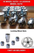 4 Locking Wheel nuts 16 new bolts Ford Fiesta Escort ka Alloy New Lug Tappered