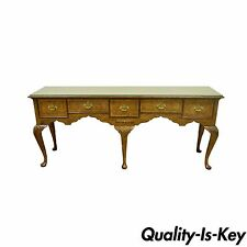 Vintage Baker Stately Homes Queen Anne Inlaid Walnut Sideboard Huntboard Server