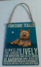 Yorkshire Terrier - Vintage Retro Shabby Chic Mini Metal Plaque Sign