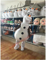 Advertising Cute Snowman Mascot Costume Suit Cosplay Birthday Adults Party Dress