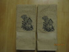 New 2 OUTHOUSE Hand Towels,Northwoods cabin decor, bathroom, kitchen
