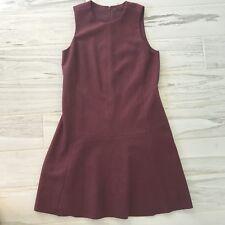 New Madewell Womens Wool Foyer Dress Red Burgundy Career - Size 6