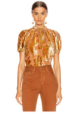 New Ulla Johnson Velvet Paola Top In Rose Gold Size 6