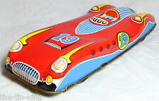 Splendido vecchio VINTAGE TIN TOY FRICTION FERRARI RACING RACE SPORTS CAR C anni'50