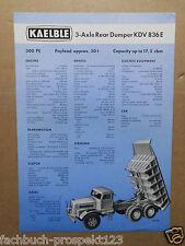 ORIGINAL PROSPEKT CARL KAELBLE 3 AXLE REAR DUMPER KDV 836E BACKNANG 1958