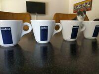 4  LAVAZZA ITALIA DEMITASSE CUPS ESPRESSO COFFEE ITALY RESTAURANT WARE