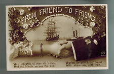 1911 Edinburgh Scotland Postcard Cover to Canada Hands Across Sea Ireland