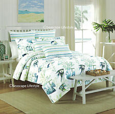 2-pc ☆ TROPICAL FISH ☆ Twin Quilt Set NICOLE MILLER Coastal Beach House angled