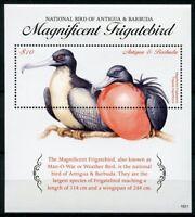 Antigua & Barbuda 2018 MNH Magnificent Frigatebird Natl Bird 1v S/S Birds Stamps