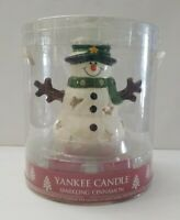 Yankee Candle Sparkling Cinnamon Snowman Luminary Tea Lights Holder  2012