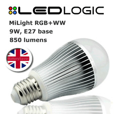 MiLight RGBW (colour with warm white) 9W Remote Control LED Light bulb (E27)