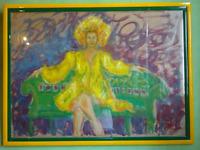 Olio su Tela - Mark Goodman - La Femme assise sur un banc