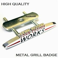 Mini Cooper John Cooper Works Metal Grill Badge Emblem One S D Countryman JCW 4g