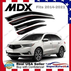Acura MDX 2014-2021 Smoke Dark Tinted Window Visor Rain Sun Guard Vent