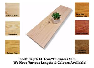 Wall Shelf Made From Solid Redwood Pine 14.4cm Deep Handmade Rustic