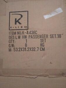 "K-Line K4438C Lackawanna 18"" Heavyweight 6-pc Passenger Car Set O Scale New"