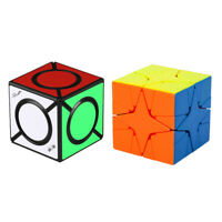 2PCS Magic Cube Toy Puzzle Cube Toy Cadeau Pour Enfants Adultes Brain Teaser Toy