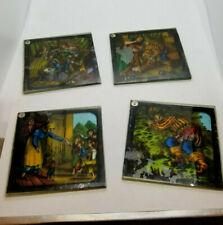 LOT OF 4 ANTIQUE renaissance jester MAGIC LANTERN GLASS SLIDES