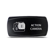 CH4x4 Rocker Switch Action Camera Symbol 2 -  Horizontal - Green LED