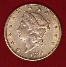 gold-reduced! 1891-S US$20 Double Eagle -Liberty Head; would grade XF to AU