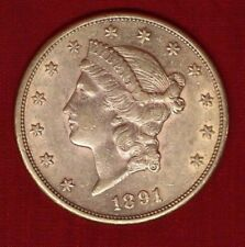 gold-reduced! 1891S US$20 Double Eagle Liberty Head; would grade EF40+ no tax!