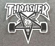 Thrasher SKATE GOAT Skateboard Sticker 4in black on white si