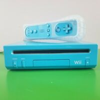 Nintendo Wii LIMITED EDITION BLUE CONSOLE w/ Controller | ALL cords included!