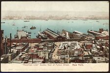 """American Line"" Docks Foot of Fulton St. New York - c1905 Postcard"